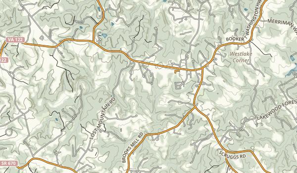Booker T. Washington National Monument Map