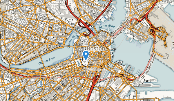 trail locations for Boston African American National Historic Site