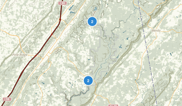 Little River Canyon National Preserve Map