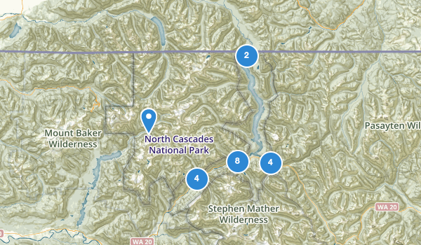 trail locations for Ross Lake National Recreation Area