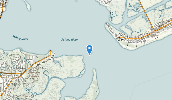 trail locations for Fort Sumter National Monument