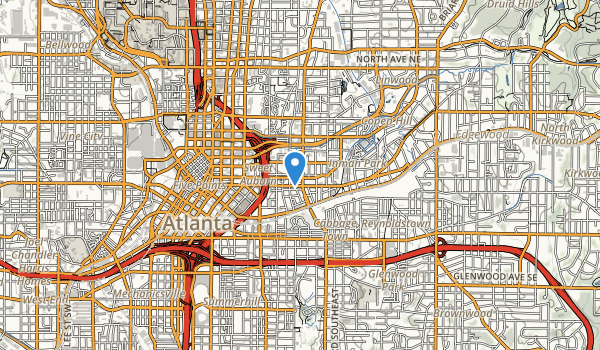 trail locations for Martin Luther King; Jr. National Historic Site