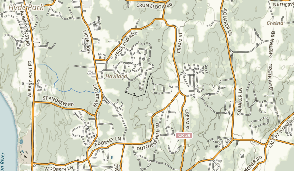 Home of Franklin D. Roosevelt National Historic Site Map