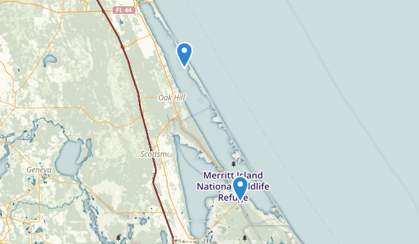 trail locations for Canaveral National Seashore