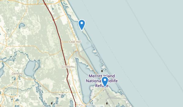 Canaveral National Seashore Map