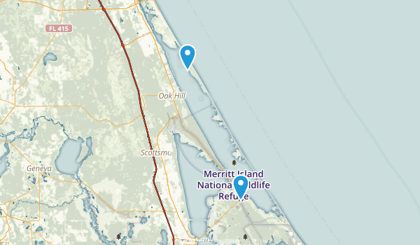 Canaveral National Seashore Map