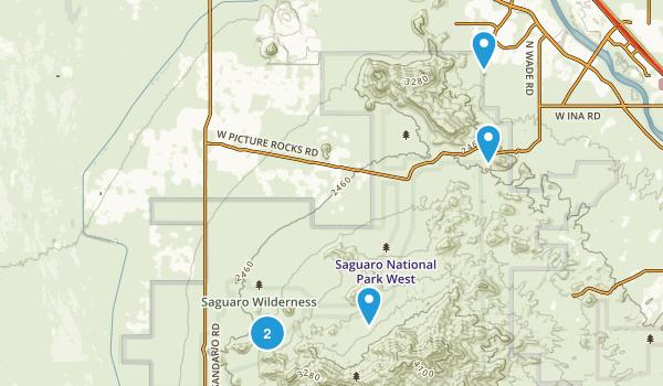Saguaro Wilderness Map