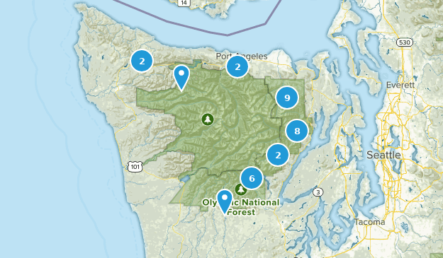 Olympic National Forest Map