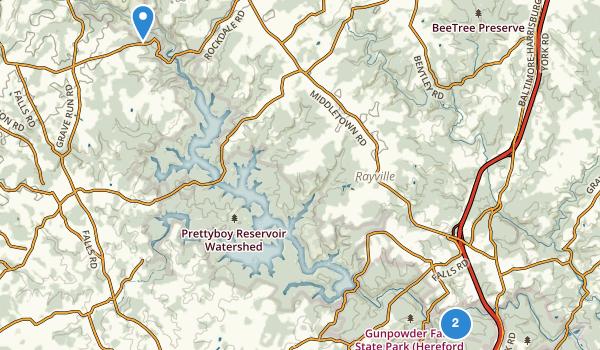 trail locations for Gunpowder State Park