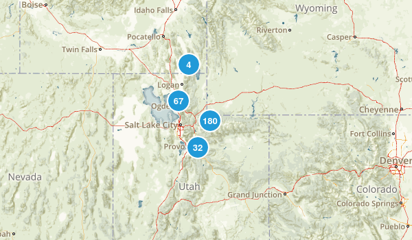 Uinta-Wasatch-Cache National Forest Map
