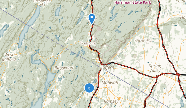 Ramapo Valley County Reservation Map