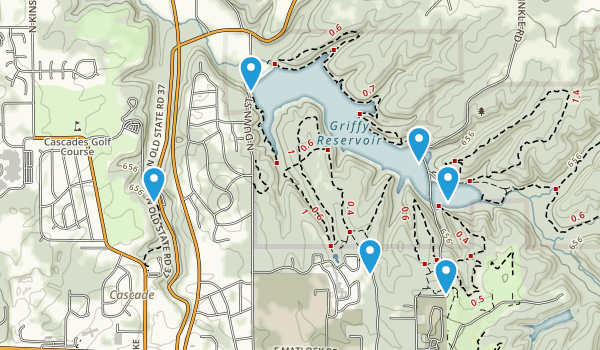 Griffy Lake Nature Preserve Map