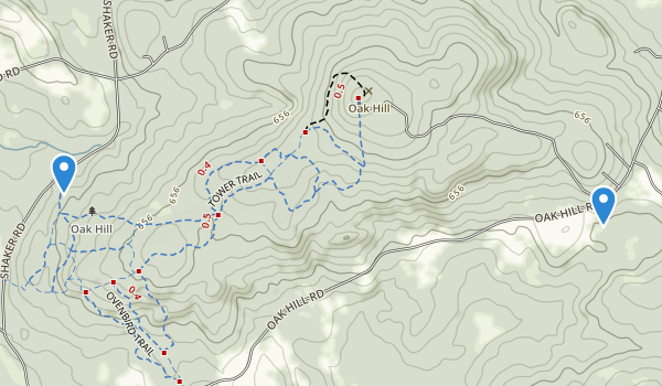 trail locations for Oak Hill