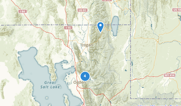 trail locations for Cache National Forest