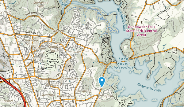 Loch Raven Map
