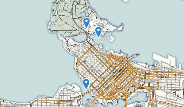 trail locations for Stanley Park