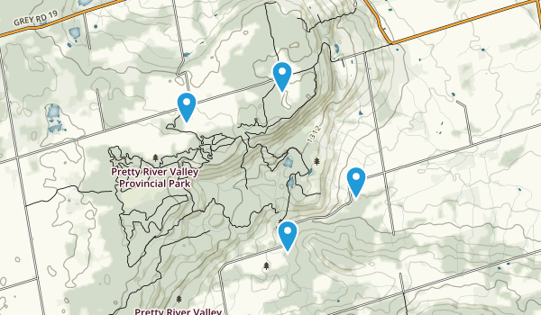 Pretty River Valley Provincial Park Map