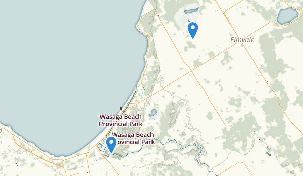trail locations for Wasaga Beach Provincial Park