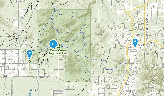 Cave Creek Regional Park Map