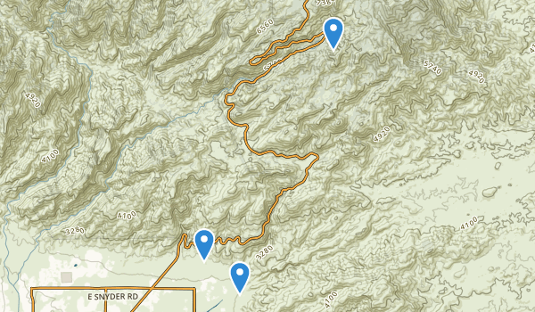 trail locations for Coronado National Forest