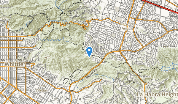 trail locations for Turnbull Canyon