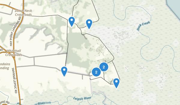 Bombay Hook National Wildlife Refuge Map