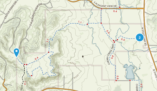 Hidden Mesa Open Space Map