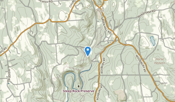 trail locations for Steep Rock Preserve