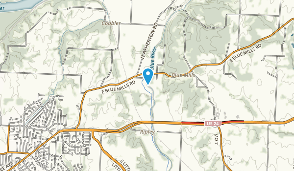 little blue trace county park map