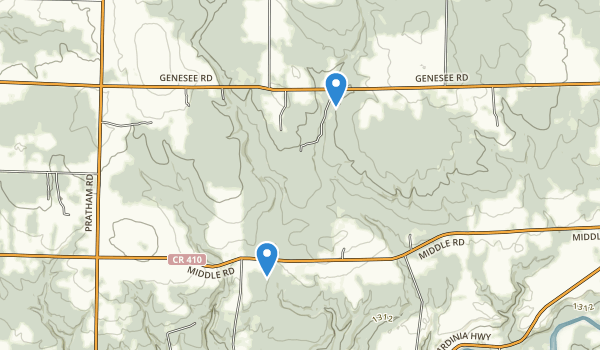 trail locations for Erie County Reforestation Area