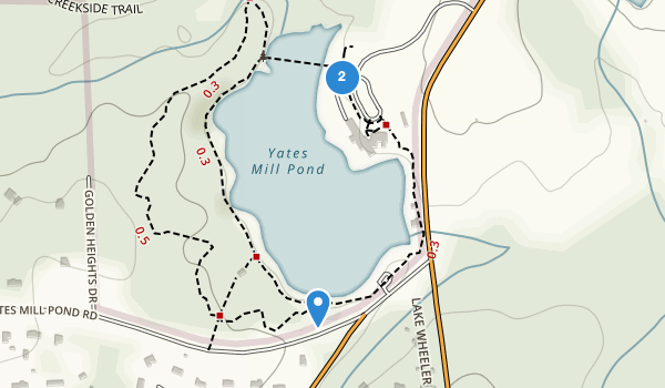 trail locations for Yates Mill Park