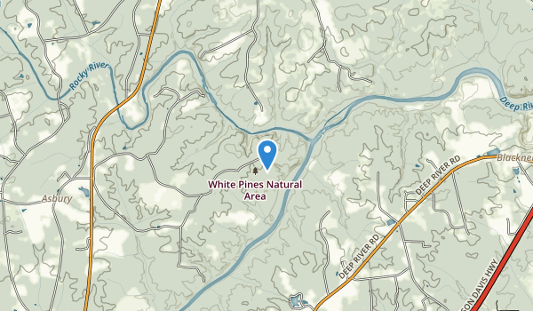 trail locations for White Pines Nature Preserve