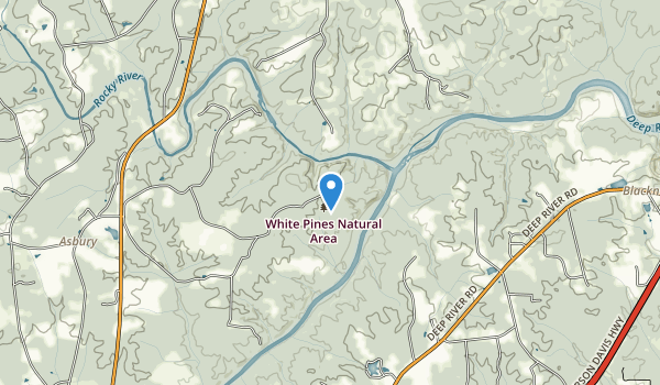 trail locations for White Pines Natural Area