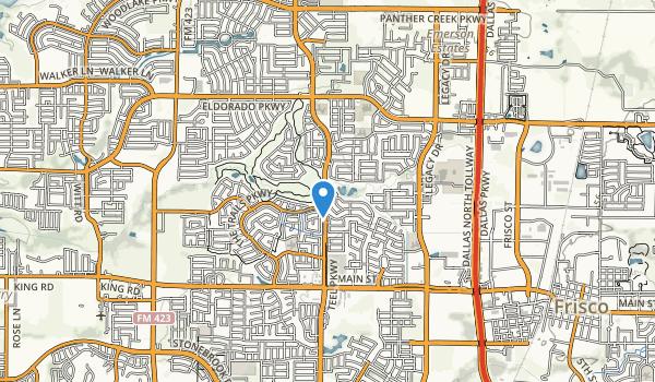 Cottonwood Creek Greenbelt Park Map