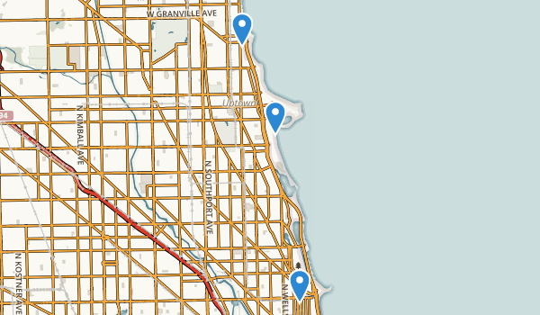 trail locations for Lincoln Park