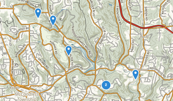trail locations for North Park