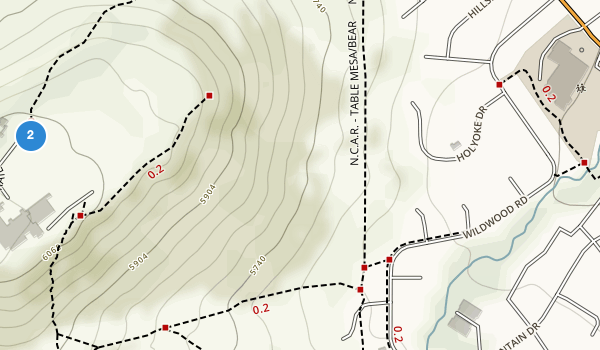 trail locations for Bear Creek Park