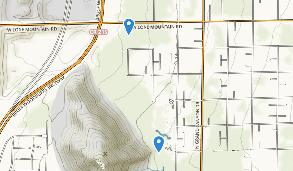 trail locations for Lone Mountain Park