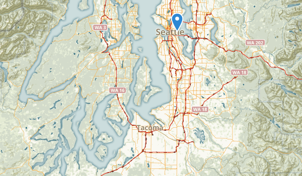 trail locations for Washington Park
