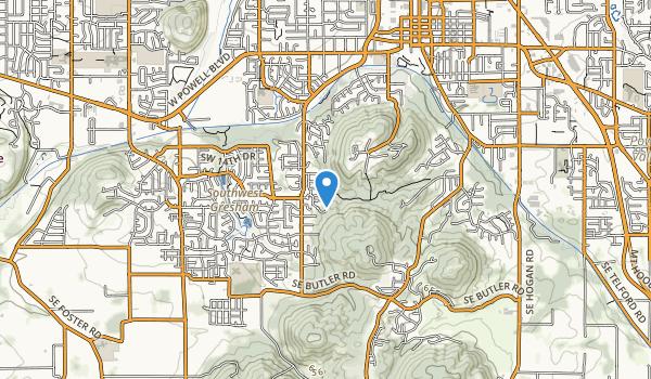Greshem Butte Map
