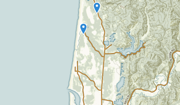trail locations for Siuslaw Falls County Park