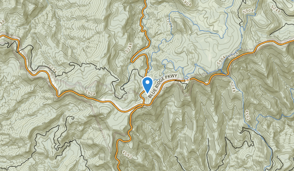 trail locations for Middle Prong Wilderness - Pisgah N.F.