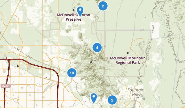 McDowell Sonoran Preserve Map