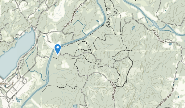 trail locations for Chattahoochee Bend State Park