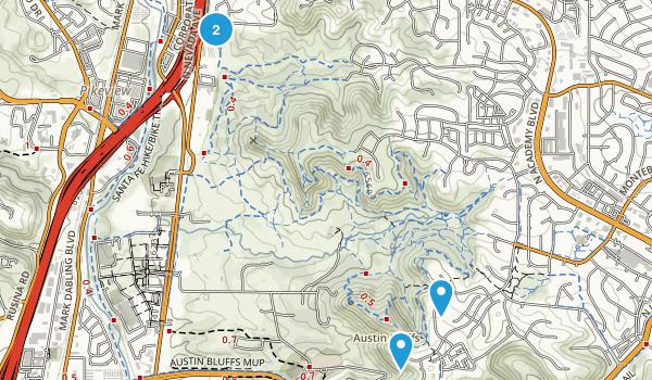 Austin Bluffs Open Space Map