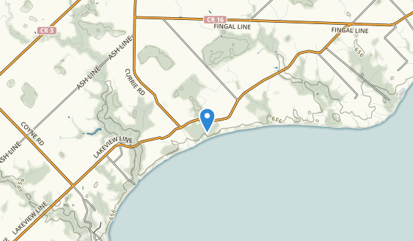 trail locations for John E Pearce Provincial Park