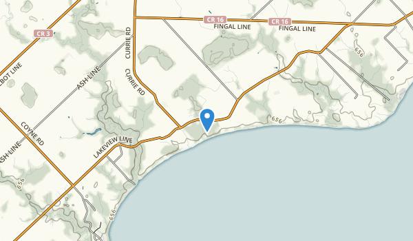 John E Pearce Provincial Park Map