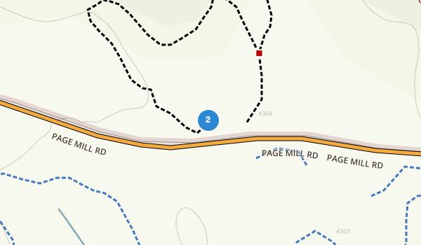 trail locations for Los Trancos