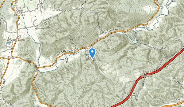 trail locations for Falls Ridge Nature Preserve