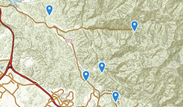 trail locations for Cleveland National Forest
